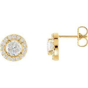 14K Yellow gold Sparkling 2.84 carats diamonds